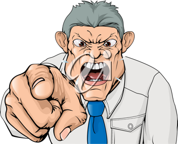 Royalty Free Clipart Image of an Angry Man Yelling