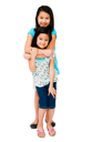 Royalty Free Photo of a Two Girls Hugging