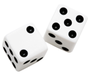 Two dices isolated over white