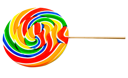 Colorful lollipop isolated over white