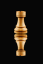 Close-up of a chess rook
