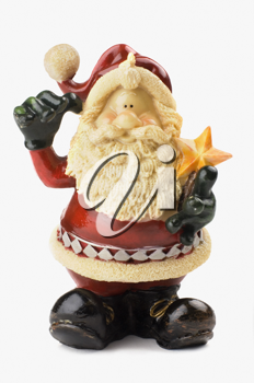 Close-up of a Santa Claus figurine