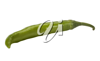 Close-up of a green chili pepper
