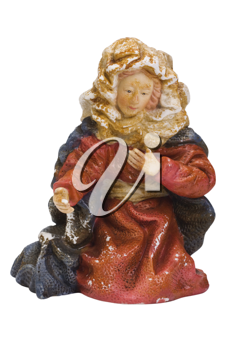 Close-up of a figurine of Virgin Mary