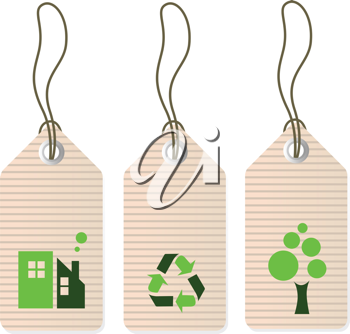 Royalty Free Clipart Image of Tags