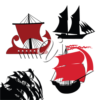 Royalty Free Clipart Image of Boats