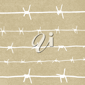 Royalty Free Clipart Image of Barbwire
