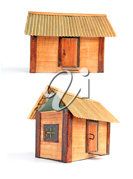 model of the wooden building