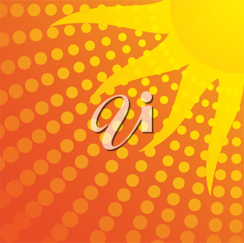 Royalty Free Clipart Image of a Sun Background
