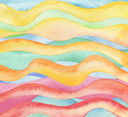 Abstract wave watercolor painted background. Paper texture.
