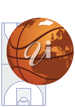 Royalty Free Clipart Image of a Basketball