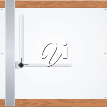 Royalty Free Clipart Image of a Drawing Table