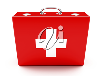 Royalty Free Clipart Image of a First Aid Kit