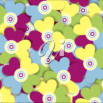 Royalty Free Clipart Image of a Background of Heart Shapes