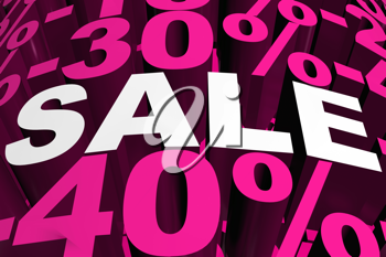 Royalty Free Clipart Image of a Sale Background