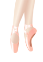 Royalty Free Clipart Image of a Ballerina's Legs