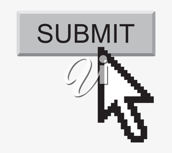 Royalty Free Clipart Image of an Icon on a Submit Button