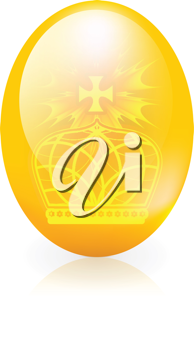 Royalty Free Clipart Image of an Egg With a Crown