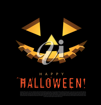 Halloween background with pumpkins lantern. Vector illustration