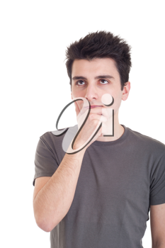 Royalty Free Clipart Image of a Man Thinking