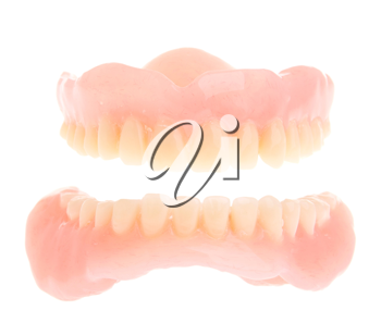 Royalty Free Photo of a Set of Acrylic Dentures