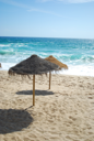 Royalty Free Clipart Image of a Beach Scene
