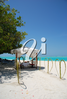 Royalty Free Photo of a Wedding Tent in the Maldives