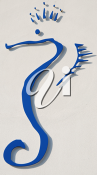 Royalty Free Photo of a Sea Horse Sign