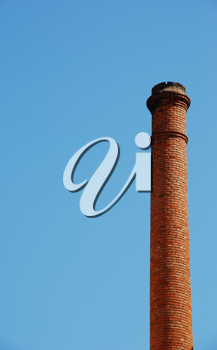 Royalty Free Photo of an Industrial Chimney