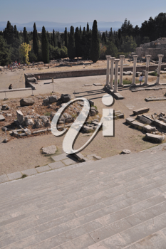 Royalty Free Photo of the Ruins of Asclepieion in Kos, Greece