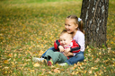 Royalty Free Photo of Two Children in a Park