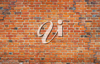 Old brick wall, background image