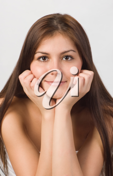 Royalty Free Photo of a Portrait of a Young Woman