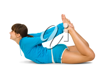 Royalty Free Photo of a Woman Exercising