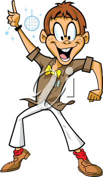 Royalty Free Clipart Image of a Disco Dancer