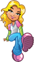 Royalty Free Clipart Image of a Blonde Girl