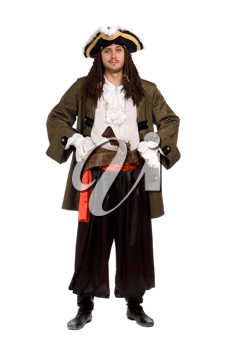 Royalty Free Photo of a Young Man in a Pirate Costume
