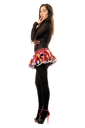 Royalty Free Photo of a Young Woman in a Short Skirt and Heels