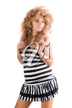Royalty Free Photo of a Woman With Curly Hair