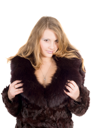 Royalty Free Photo of a Woman in Fur