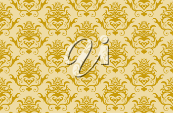 Royalty Free Clipart Image of a Damask Background