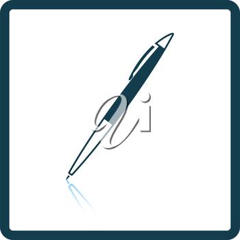 Pen icon. Shadow reflection design. Vector illustration.