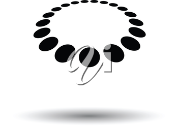 Beads icon. White background with shadow design. Vector illustration.