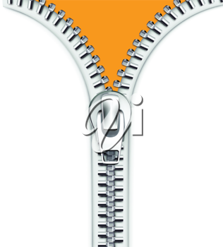 Royalty Free Clipart Image of a Zipper