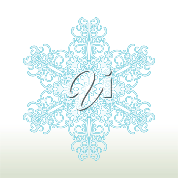 Royalty Free Clipart Image of a Decorative Snowflake