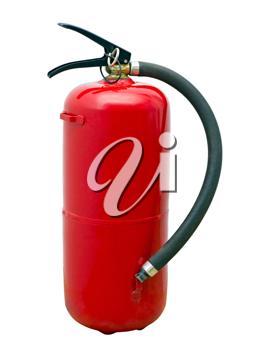 Royalty Free Photo of a Red Fire Extinguisher