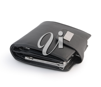 Men's leather wallet isolated on a white background