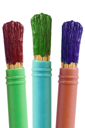 Royalty Free Photo of Three Paintbrushes