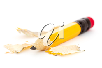Royalty Free Photo of Pencil and Shavings