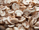 Cut mushrooms for background